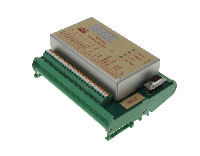 PCH 1073 low cost vibration monitor with 1 vibration input channel, 4 relays and two 4-20mA outputs