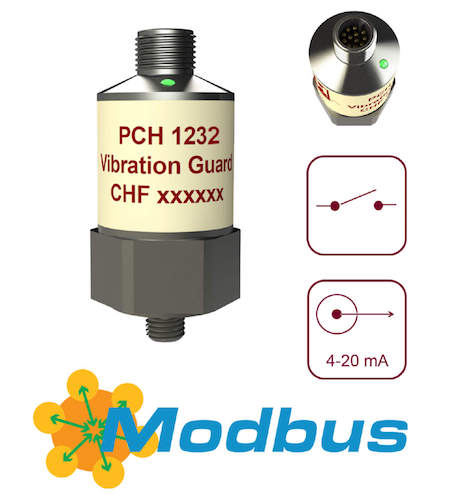 Compact vibration monitors from PCH Engineering